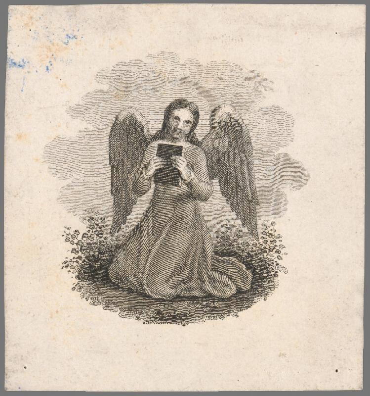 Stredoeurópsky grafik z 19. storočia - Modlitba anjela