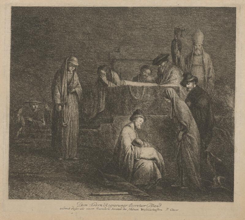 Rembrandt van Rijn, Adam Friedrich Oeser, Barent Fabritius - Obetovanie Krista v chráme