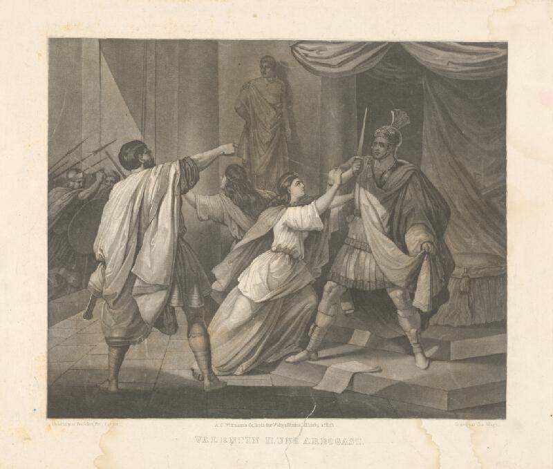 Christian Mayer, Anton Ritter von Perger - Valentín II. a Arbogast