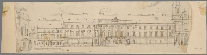 Karl Feigler - Plán fasády Župného domu v Bratislave