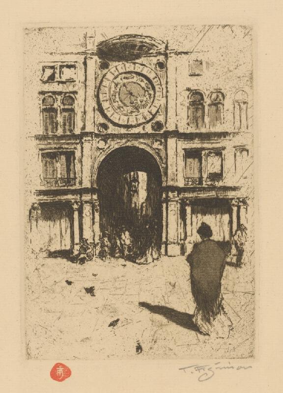 František Tavík Šimon - Pohľad na časť Benátok