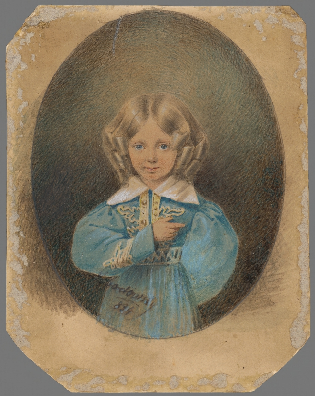 Stredoeurópsky autor z 19. storočia - Detský portrét grófa Ernsta Grundemann von Falkenberg