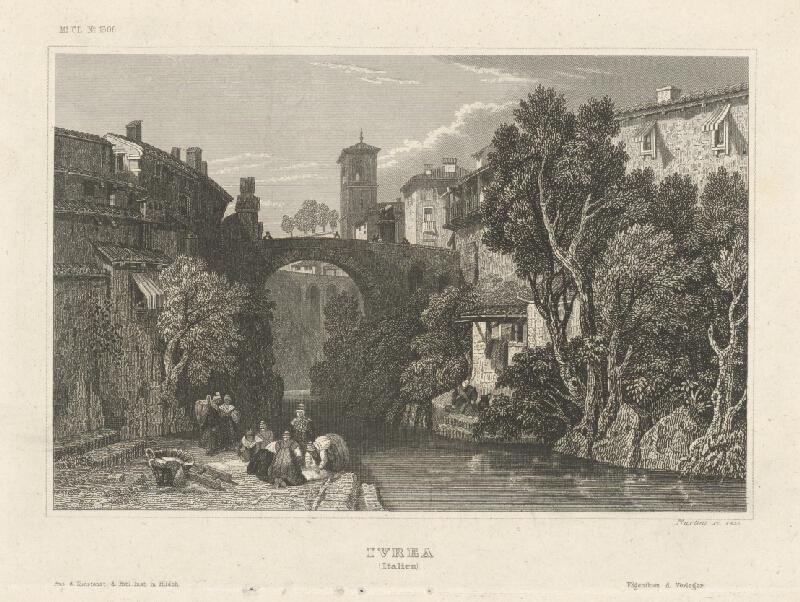 Johann Georg Martini - Mesto Ivrea v Taliansku