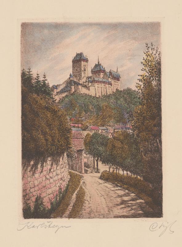 Slovenský maliar z 20. storočia - Hrad Karlštejn
