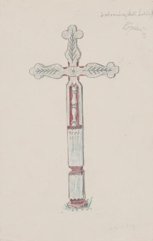 Ladislav Treskoň - Náhrobný kríž z Dobronivy