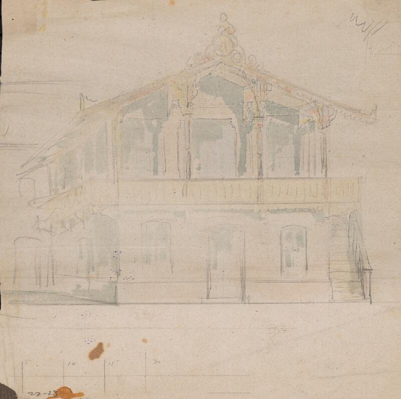 Karl Feigler - Návrh na fasádu záhrad. domu
