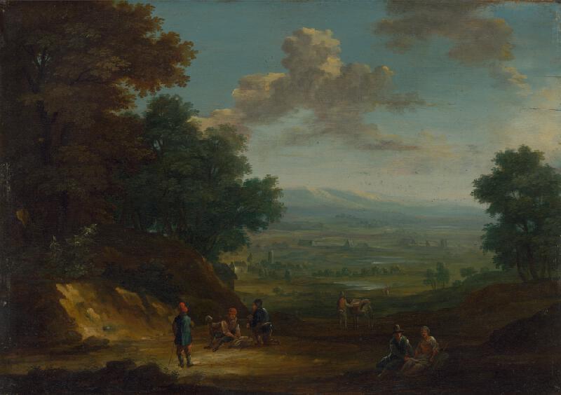 Flámsky maliar zo začiatku 18. storočia - Pocestní na čistinke