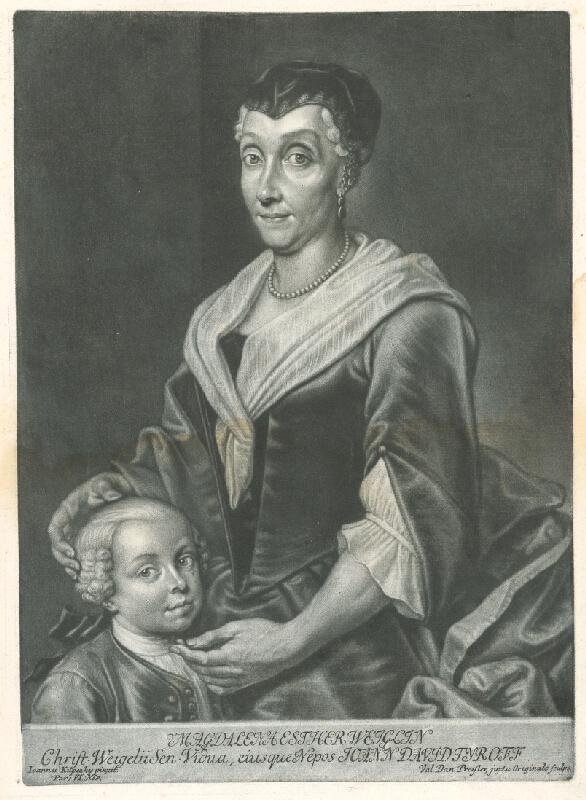 Valentin Daniel Preisler, Ján Kupecký - Magdalena Esther Weiglin so synom