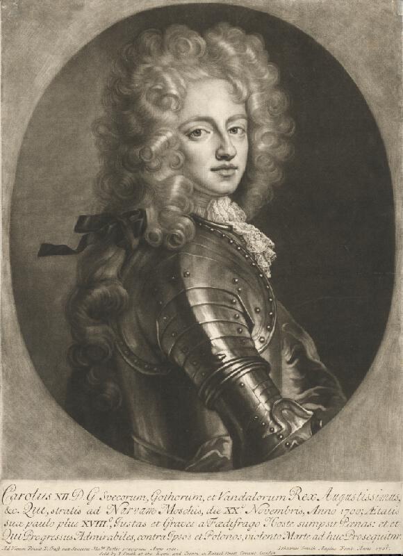 David von Krafft - Portrét Karola XII., švédskeho kráľa