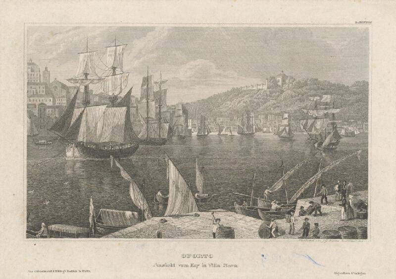 Johann Georg Martini - Oporto z prístavu Villa Nova