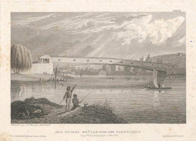 Johann Georg Martini - Most na Schnylkill
