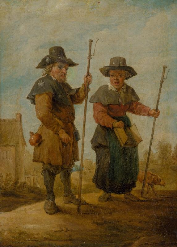 Nemecký maliar z 18. storočia, Holandský maliar z 18. storočia, David Teniers ml. - Pútnici
