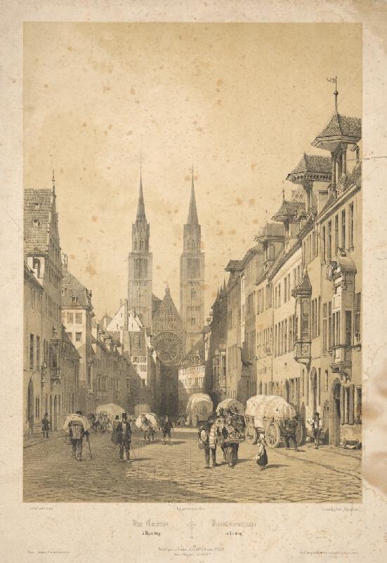 Francúzsky maliar z 19. storočia - Karolínska ulica