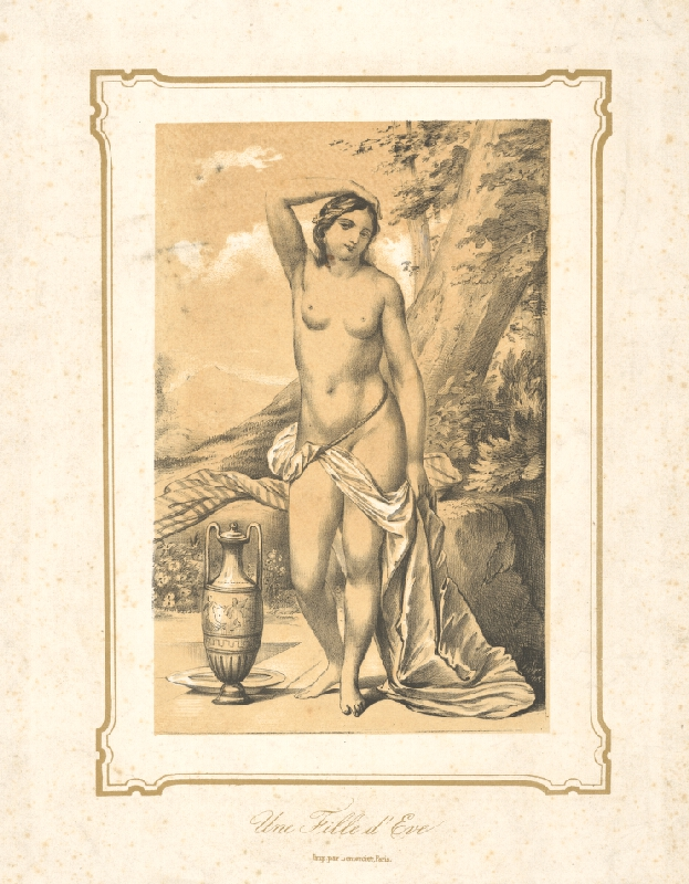 Francúzsky maliar z 19. storočia - Dcéra Evina