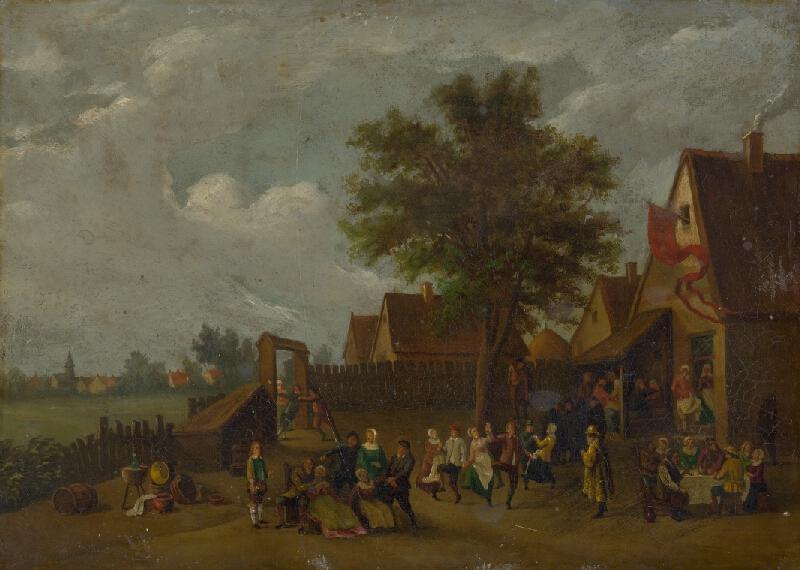 David Teniers ml. - Zábava pred krčmou