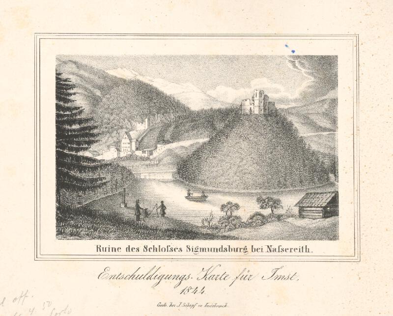 Nemecký maliar z 19. storočia - Zrúcanina hradu Sigmundsburg
