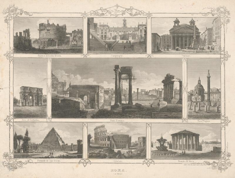 Taliansky maliar z 19. storočia - Pohľady z Ríma
