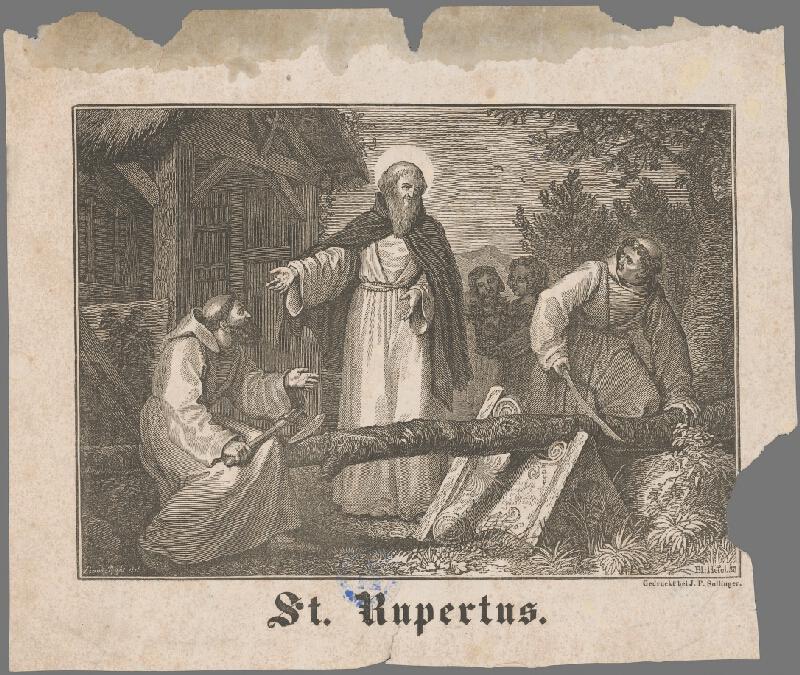 Taliansky maliar z 19. storočia - Sv. Rupertus