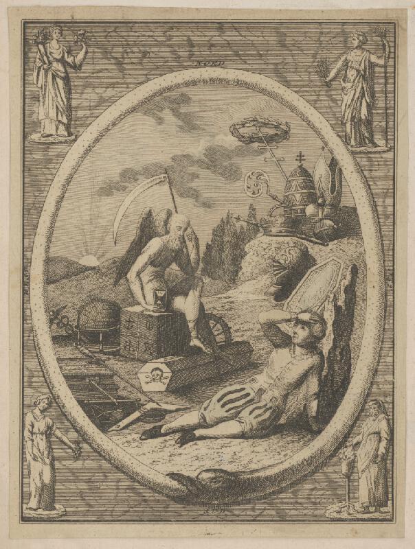Taliansky maliar z 18. storočia - Mládenec a smrť
