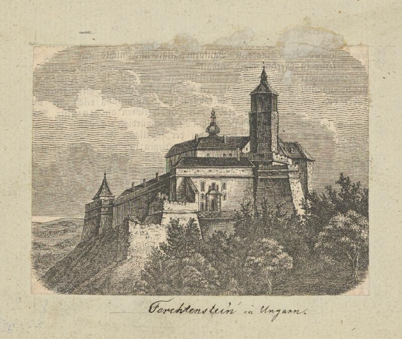 Rakúsky maliar z 19. storočia - Hrad Forchtenstein