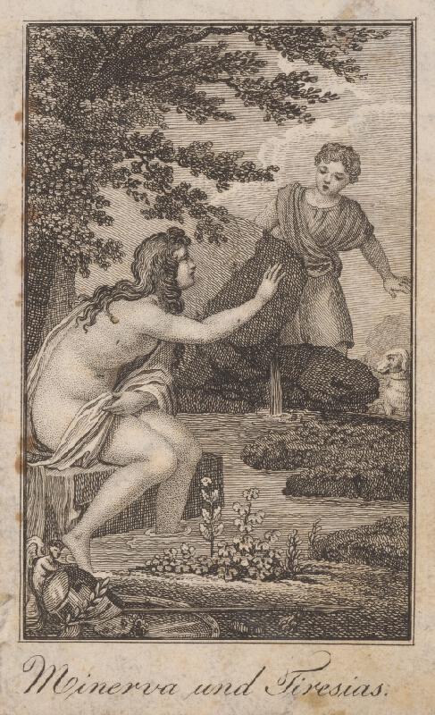 Stredoeurópsky grafik zo začiatku 19. storočia - Minerva a Tiresias