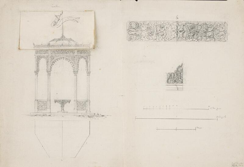 Karl Feigler - Návrh na fasádu záhrad. pavilónu