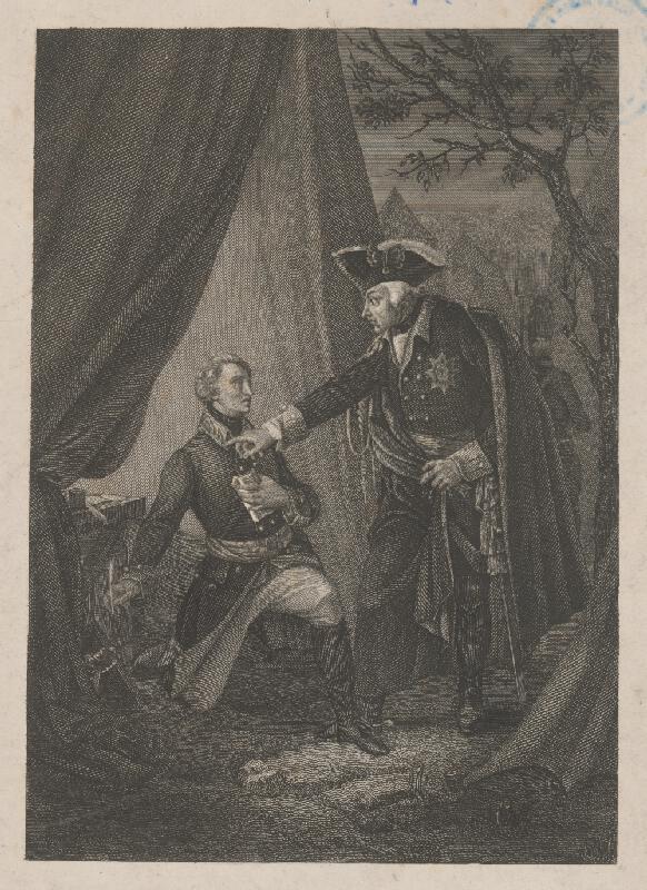 Stredoeurópsky grafik zo začiatku 19. storočia - Vo vojenskom tábore