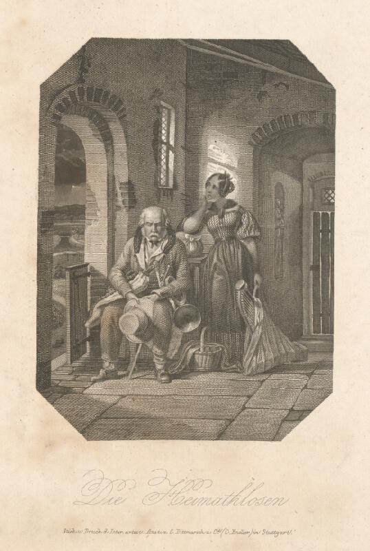 Stredoeurópsky grafik z 19. storočia - Bez domova