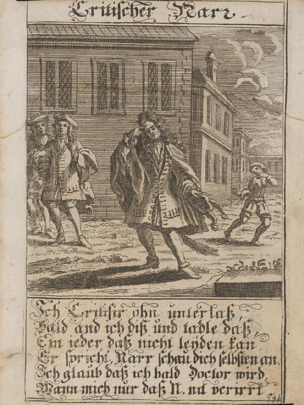Stredoeurópsky grafik z 1. polovice 18. storočia - Kritický blázon