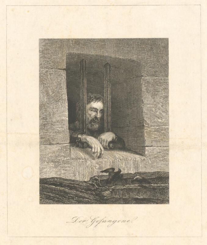 Stredoeurópsky grafik z 19. storočia - Zajatec