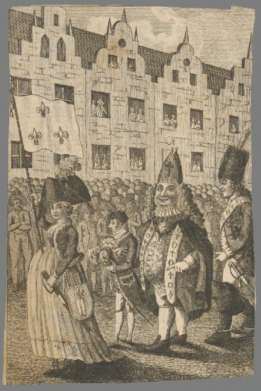 Stredoeurópsky grafik z 18. storočia - Sprievod, karikatúra