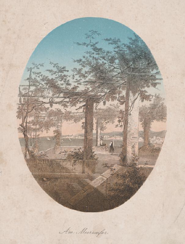 Stredoeurópsky grafik z 19. storočia - Pri mori