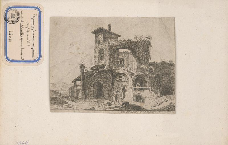 Stredoeurópsky grafik z 18. storočia - Zrúcanina domu