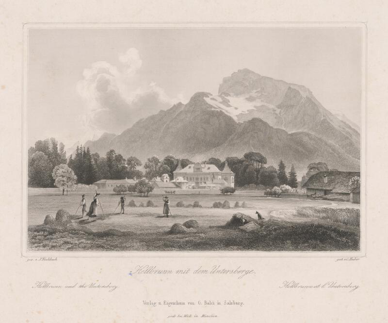 Conrad Huber, Johann Fischbach - Zámok Hellbrunn