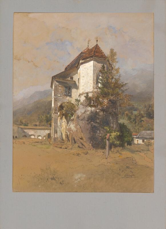 Eduard Lichtenfels - Krajina s kostolíkom