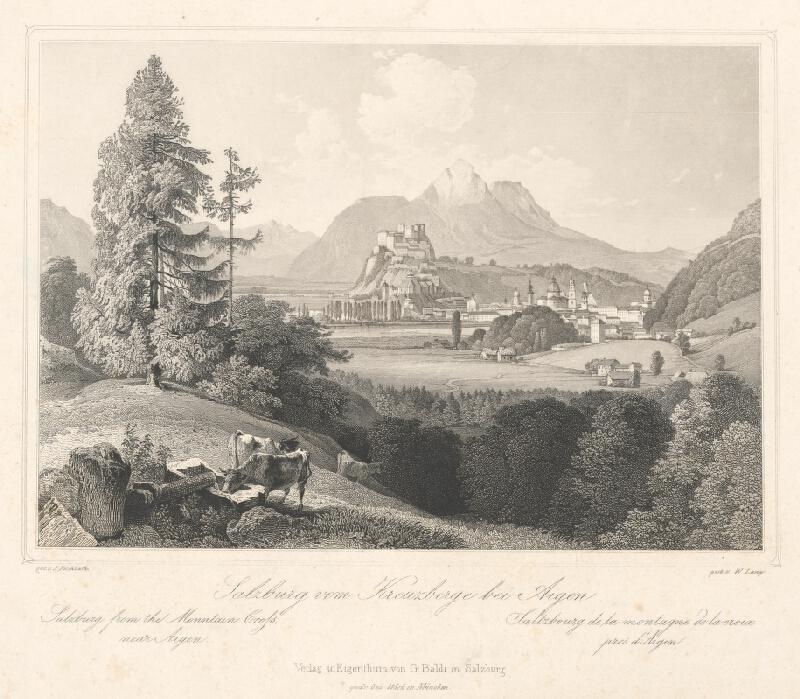 Wiliam Lang, Johann Fischbach - Pohľad na Soľnohrad