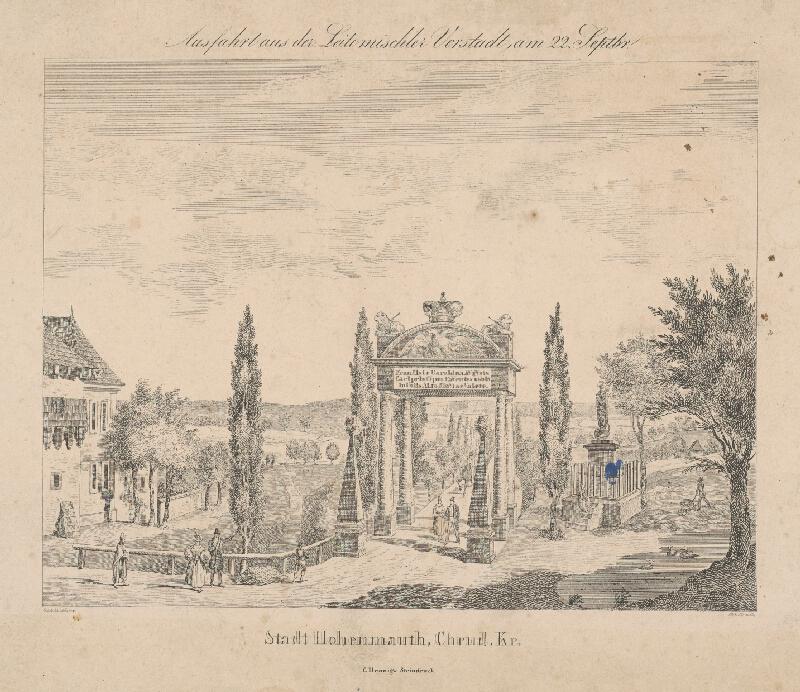 Ferdinand Karl Klimsch, Schonberg - Návšteva cisára Františka II. v Litomyšli