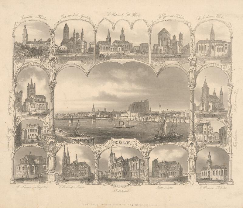 Stredoeurópsky grafik z 19. storočia - Kolín