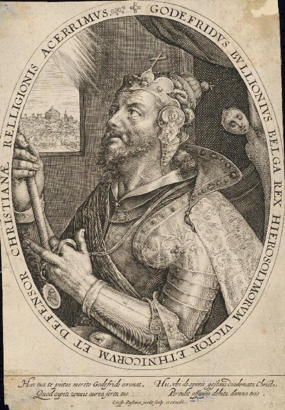 Crispijn de Passe st. - Idealizovaný portrét Godefroya de Bouillon
