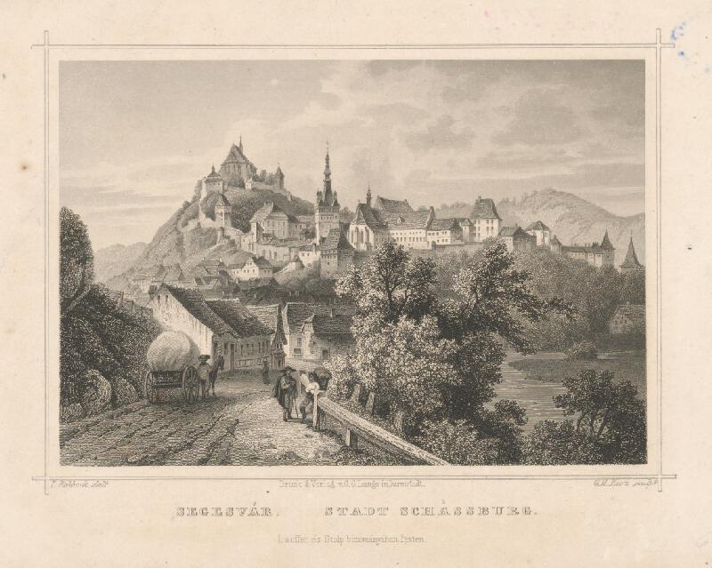 Georg Michael Kurz, Ludwig Rohbock - Celkový pohľad na mesto Segesvár