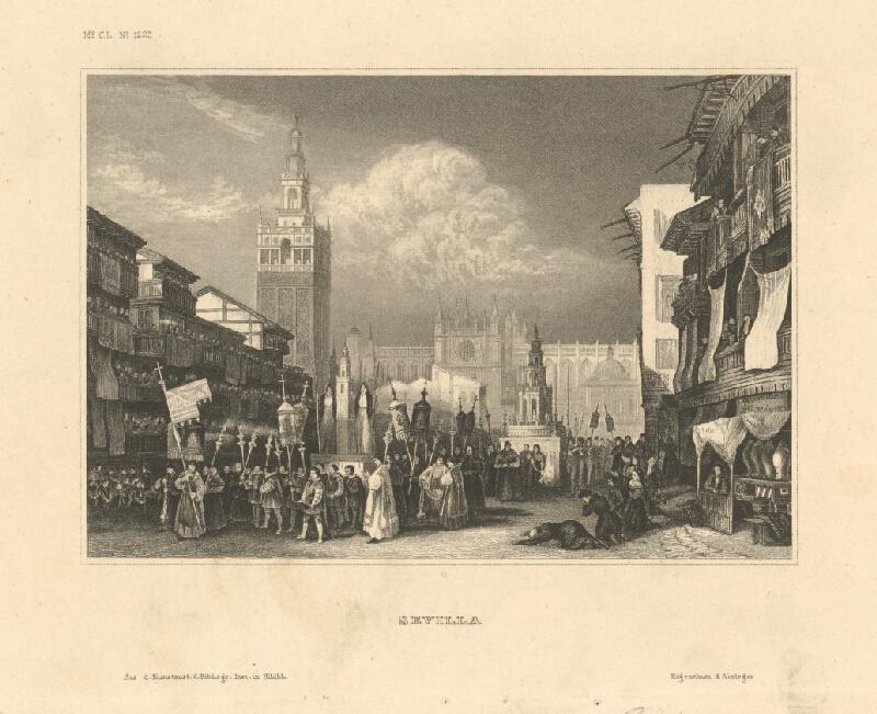 Stredoeurópsky grafik z 19. storočia - Sevilla