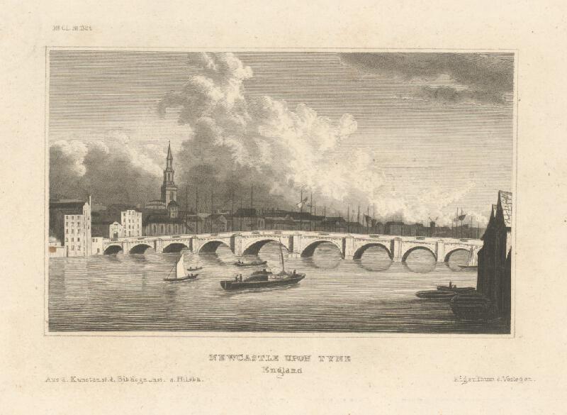Stredoeurópsky grafik z 19. storočia - Newcastle