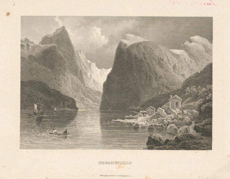 Stredoeurópsky grafik z 19. storočia - Norangfjord