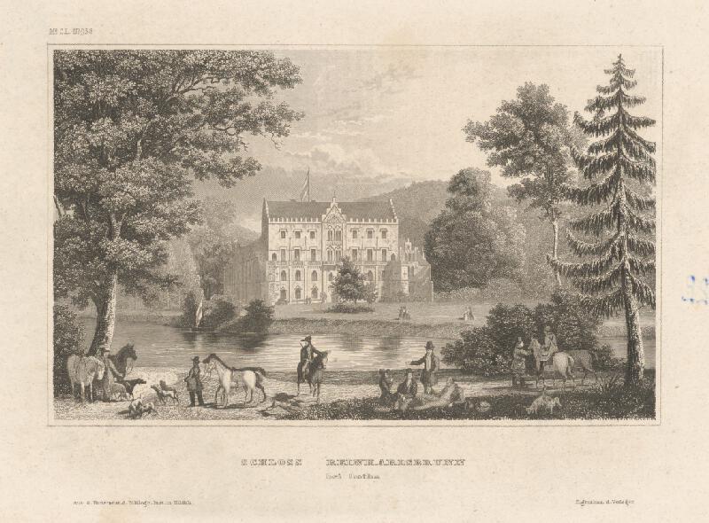Stredoeurópsky grafik z 19. storočia - Zámok Reinhardsbrunn