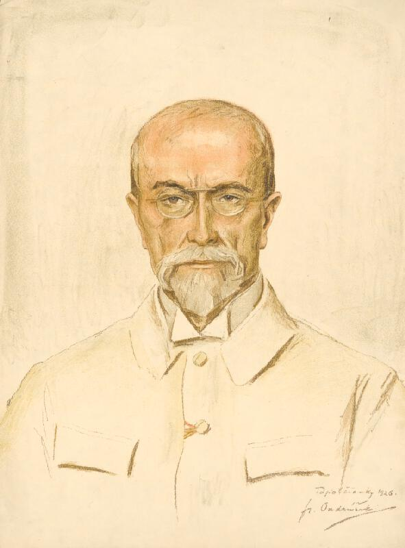 František Ondrúšek – Portrét Masaryka, 1926, Galéria mesta Bratislavy