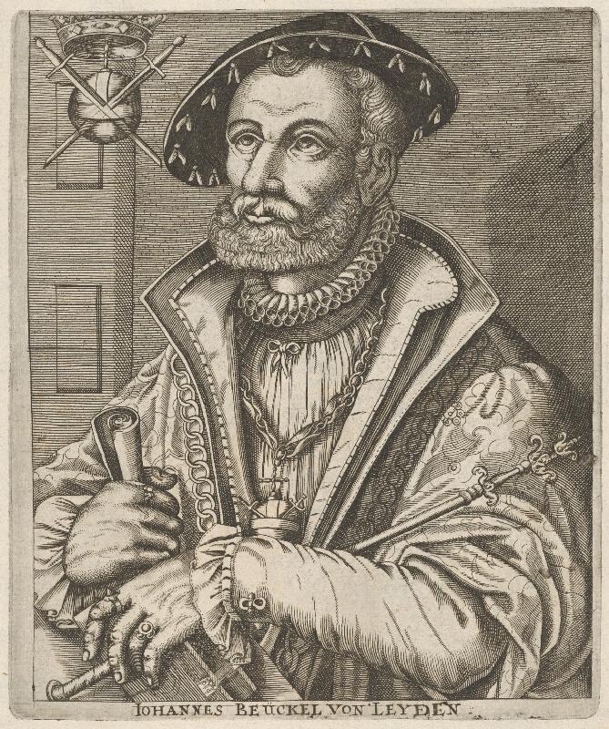 Stredoeurópsky grafik z 2. polovice 16. storočia - Podobizeň Jána Beuckela z Leydenu