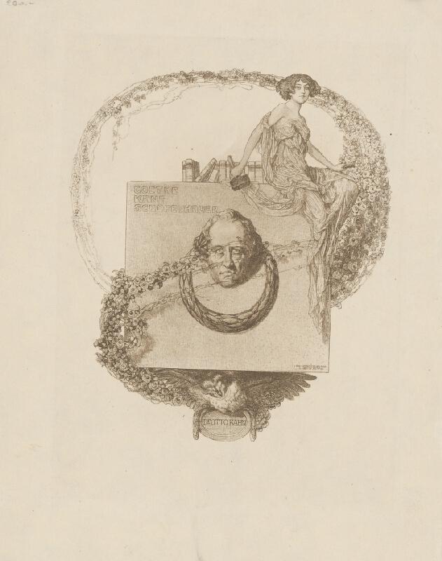 Franz von Bayros - Ex libris Dr. O. Kohna