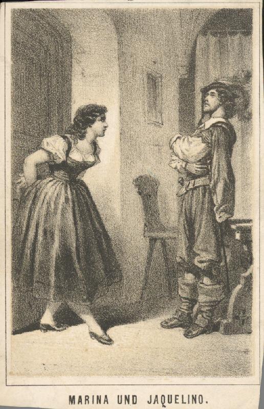 Nemecký grafik z 19. storočia - Marína a Jacquelíno