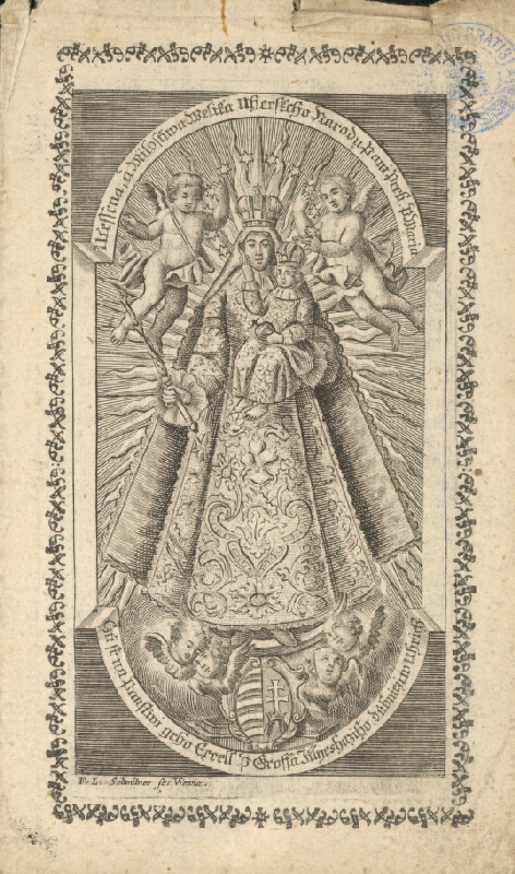 Franz Leopold Schmitner - Milosrdná socha Dubnickej Panny Márie v Dubnici n. V. (Panna Mária Dubnická)