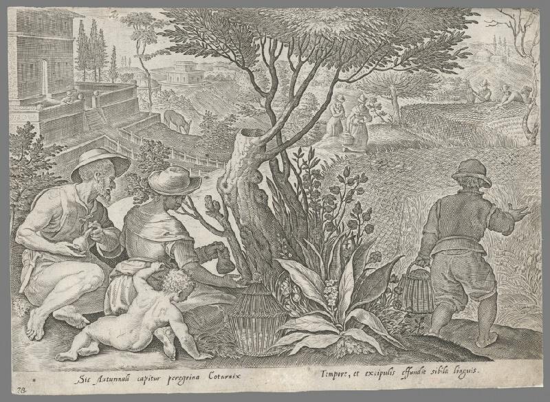 Philip Galle, Jan van der Straet - Poľovačka na vtákov